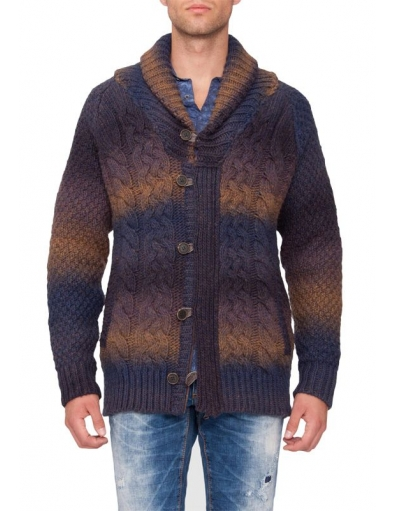 Knitted cardigan AM - Truien en vesten - Blauw - Antony Morato