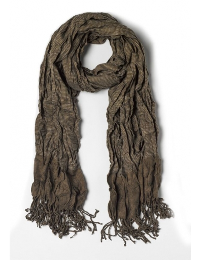 Scarf with wrinkled effect - Accessoires - Groen - Antony Morato