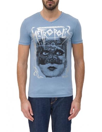 7024 METROPOLIS - T-shirts - Blauw - Antony Morato