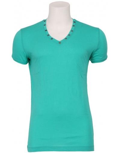 4017 MINIMAL ROCK - T-shirts - Groen - Antony Morato